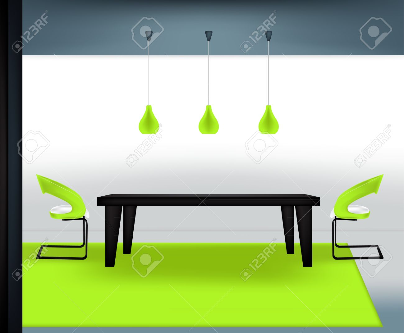 Dining room table and chairs clipart - Dining Table Modern Dining Room