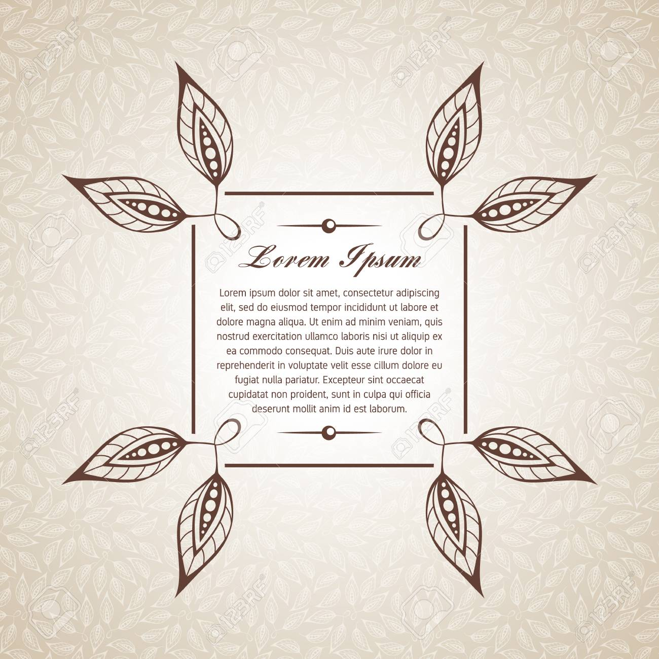 Template For Short Text Greeting Cards Invitations Menus