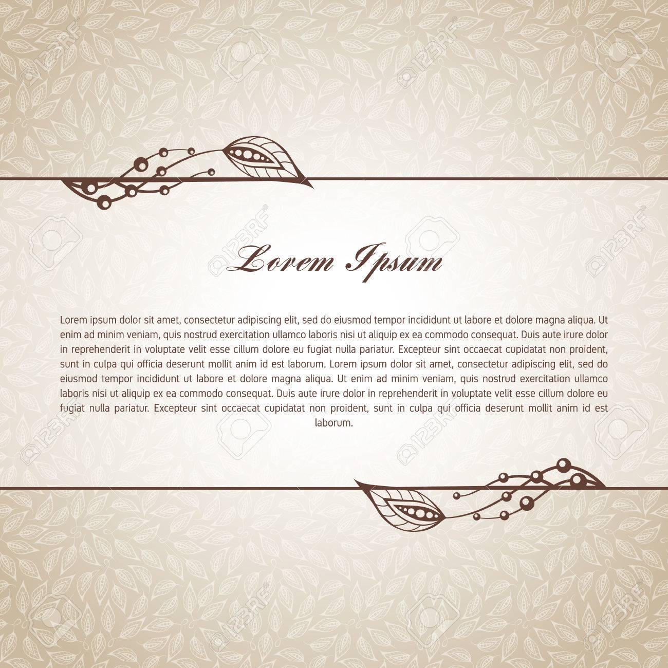 Plantilla Para El Texto Corto, Tarjetas De Felicitación ...