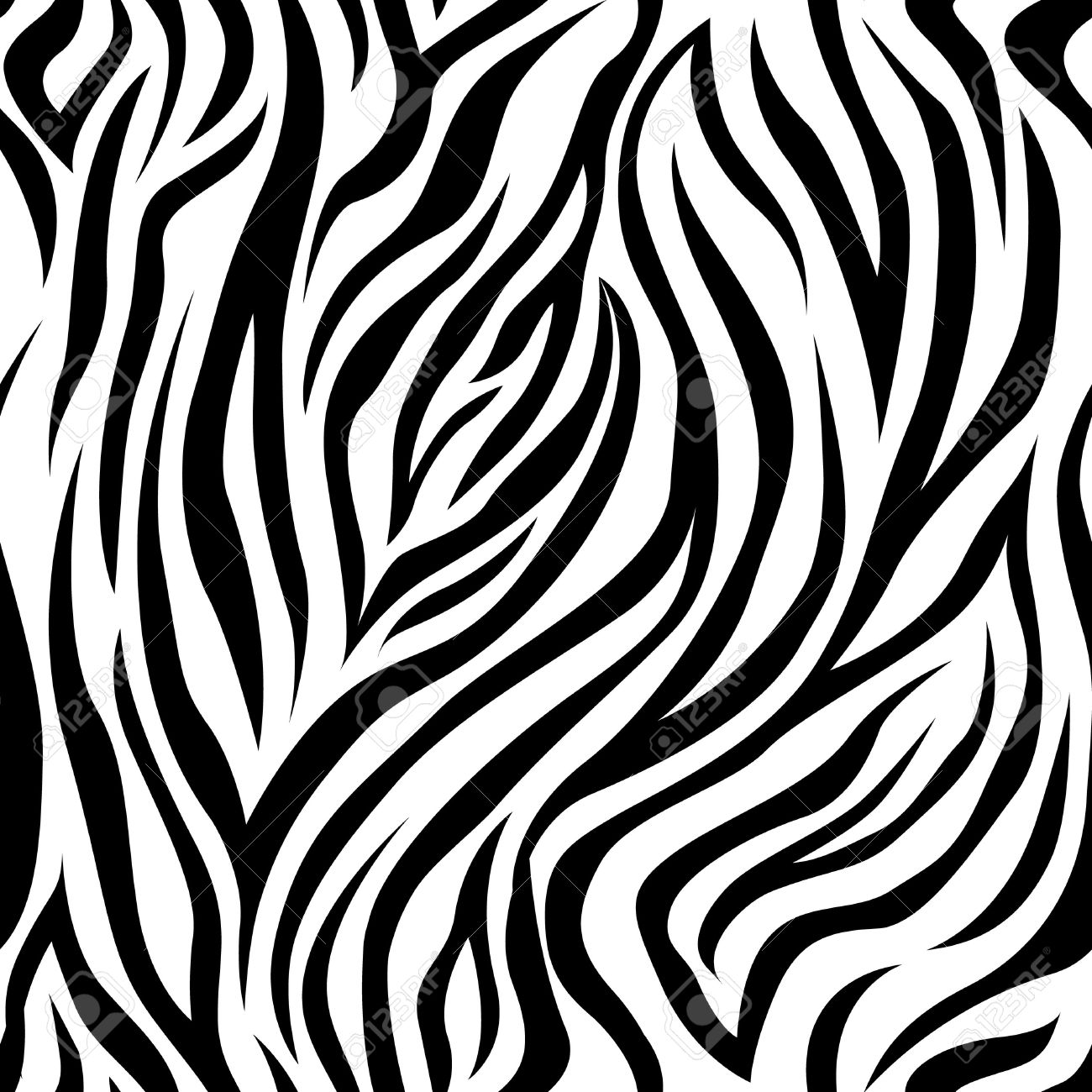 Vector seamless pattern with zebra stripes. Background, backdrop, print fabric. - 52874963