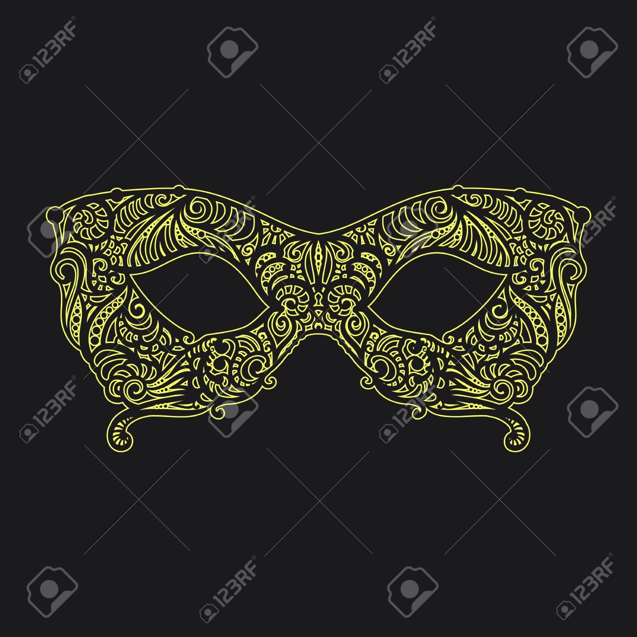 Asombroso Crochet Patrón De Máscara De La Mascarada Friso - Manta de ...