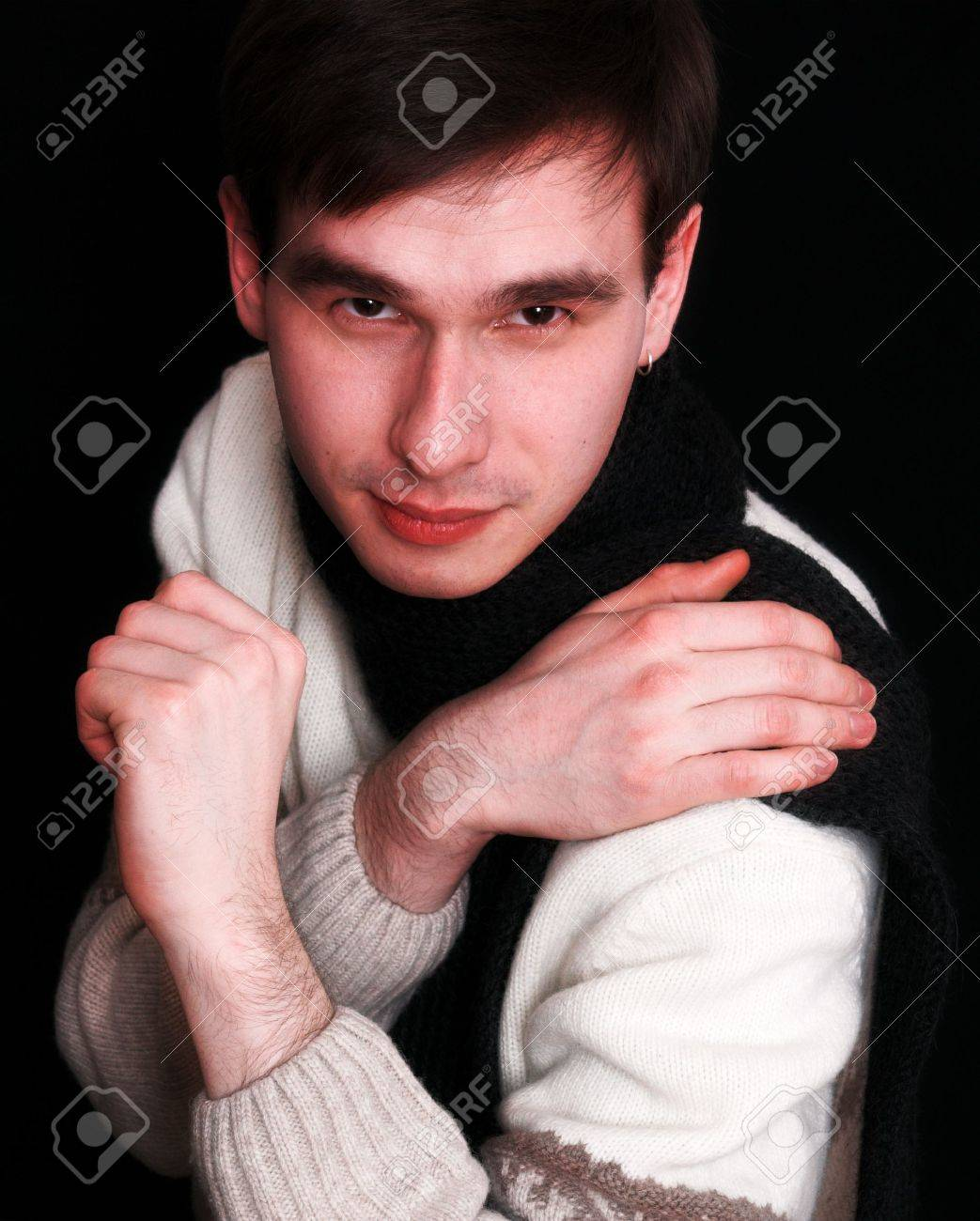Courageous man crossed his arms Stock Photo - 369250