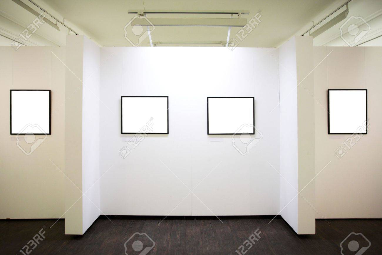 wall in museum with empty frames Stock Photo - 3235990