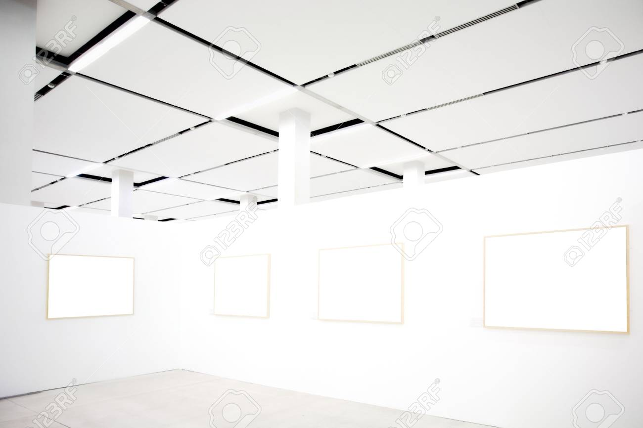 walls in museum with empty frames Stock Photo - 3242326