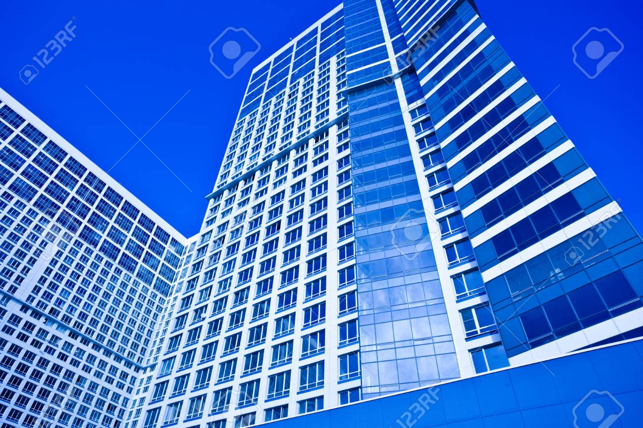 Blue dwelling house in blue Stock Photo - 5855038