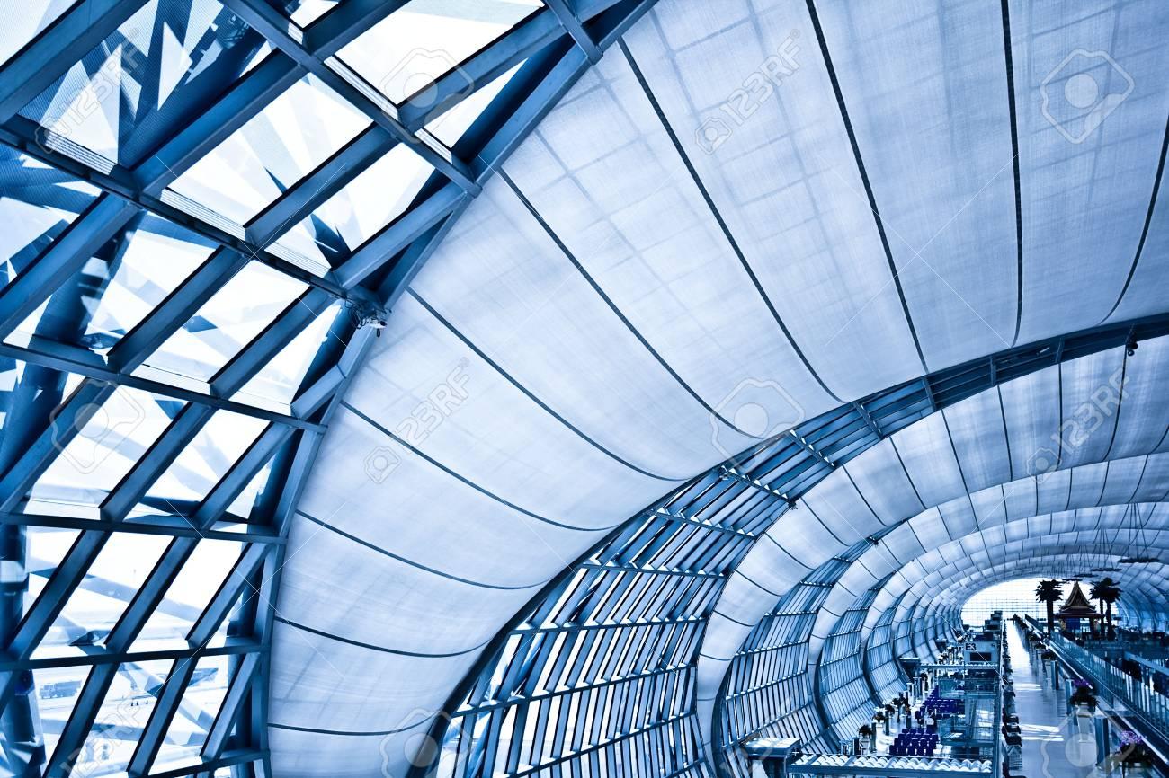 Abstract blue corridor, horizontal left composition Stock Photo - 6033800