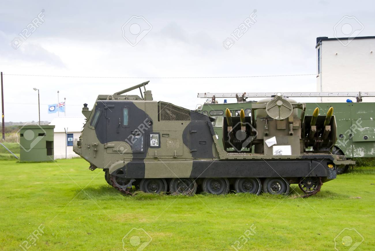 A Tracked Army Missile Launching Vehicle Stock Photo - 15491001