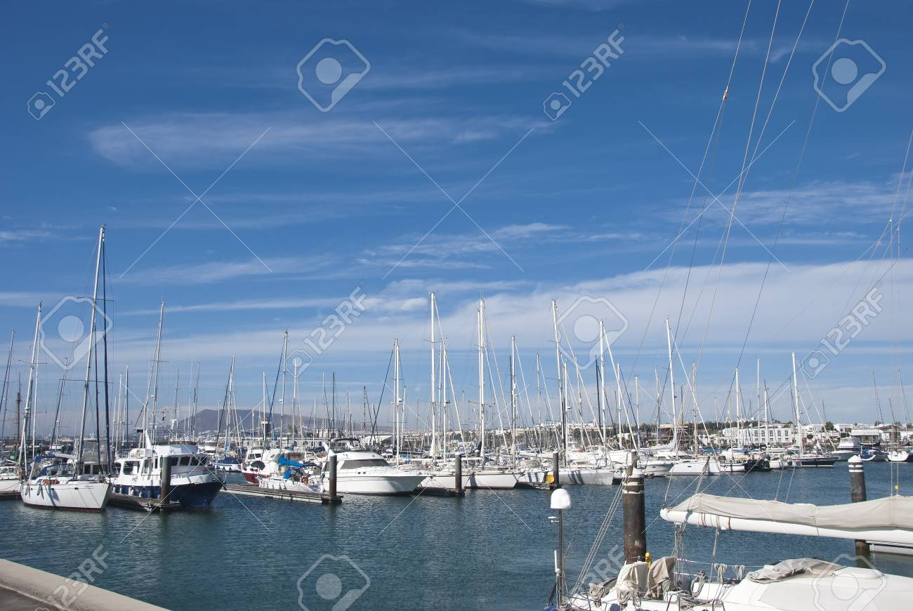 A Yacht Marina in the Canary Islands Stock Photo - 17103017