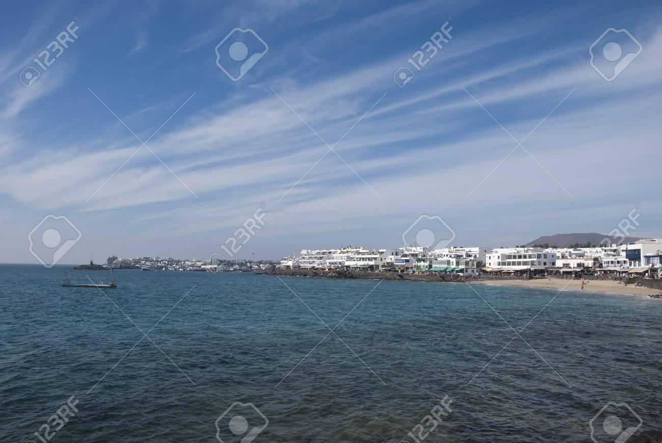 The Bay at Playa Blanca Lanzarote Stock Photo - 17102997