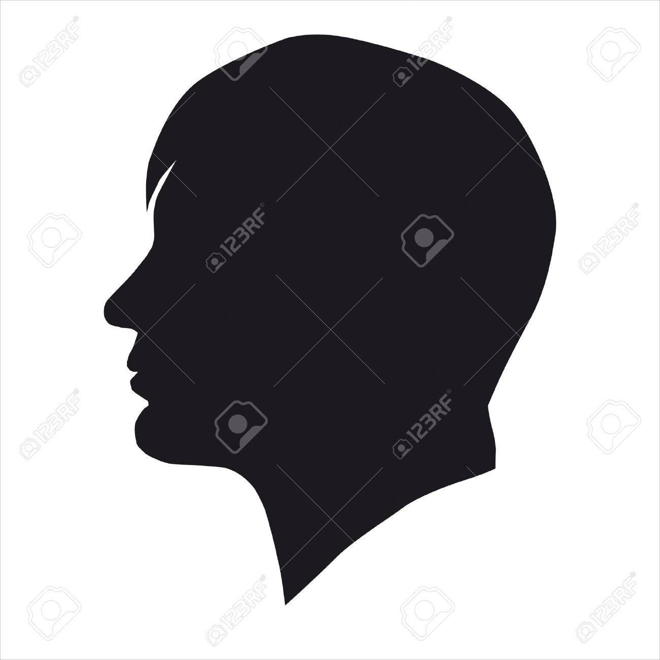 Man head silhouette  p...