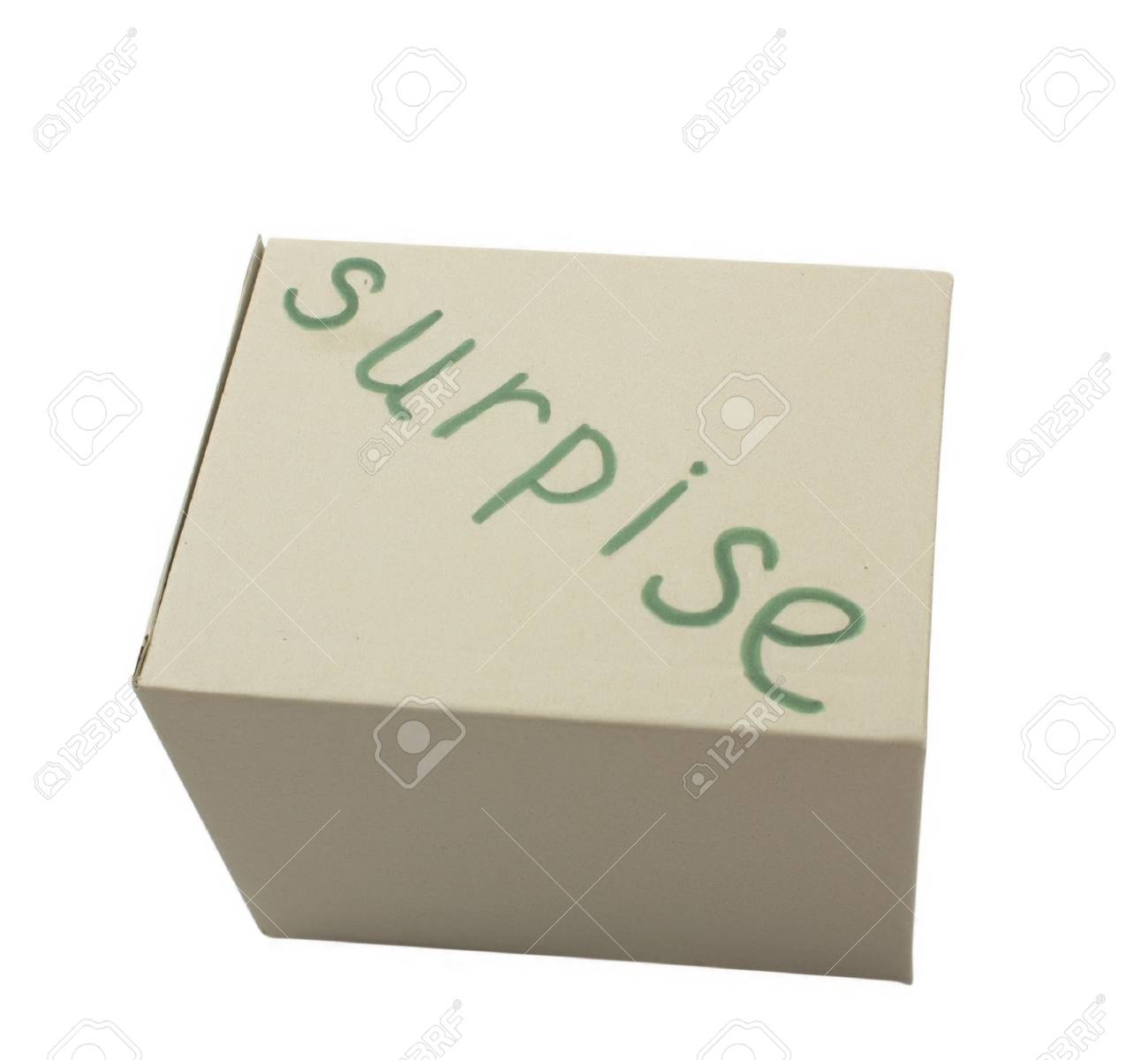 Cardboard box isolated over white background Stock Photo - 6690749