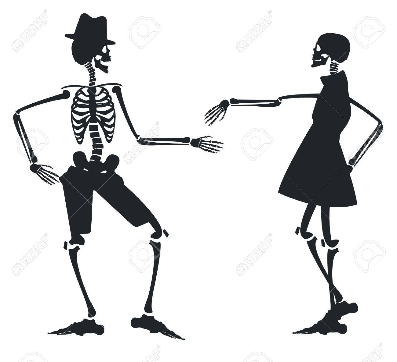1 060 dancing skeleton stock vector illustration and royalty free rh 123rf com Witches Cauldron Clip Art Adult Halloween Clip Art