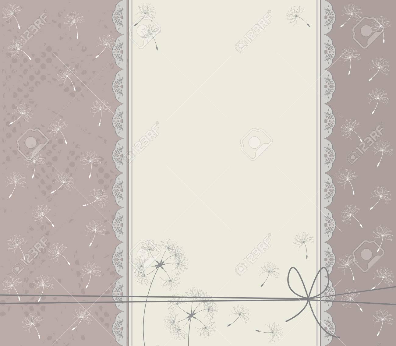 Wedding invitation with cute taraxacum unique greeting card wedding invitation with cute taraxacum unique greeting card with stylish lace frame stock vector kristyandbryce Gallery