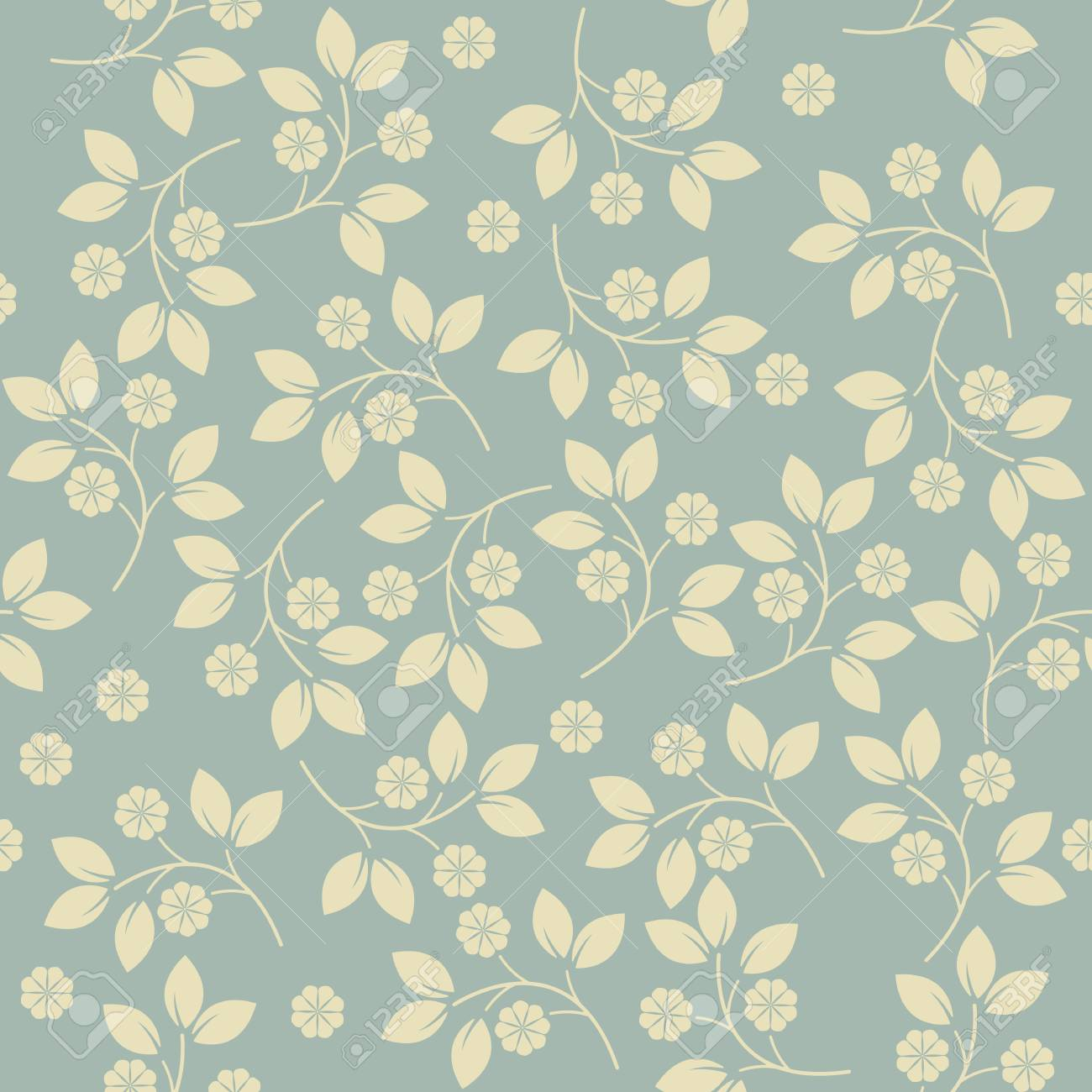 Trendy Endless Pattern With Cute Flowers Can Be Used For Design