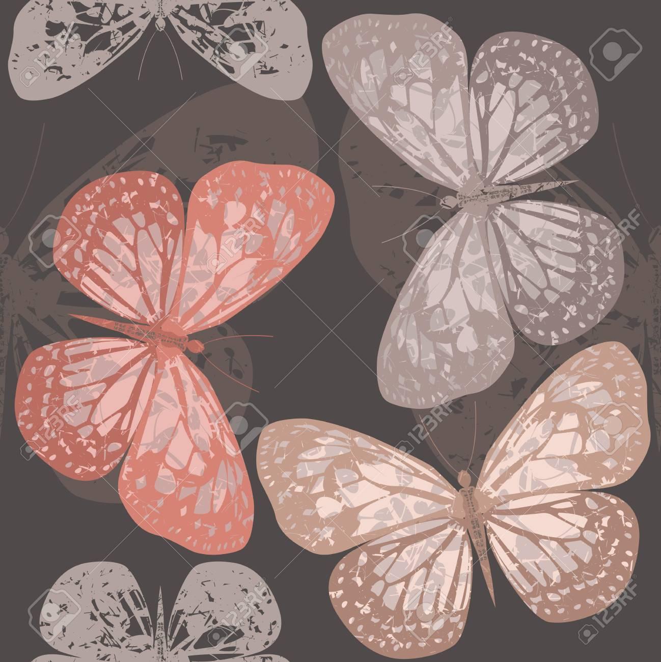 Modèle Sans Couture Avec Des Papillons Peut être Utilisé Pour Lemballage Linge Carrelage Textile Papier Peint Et Des Dessins Plus Créatifs