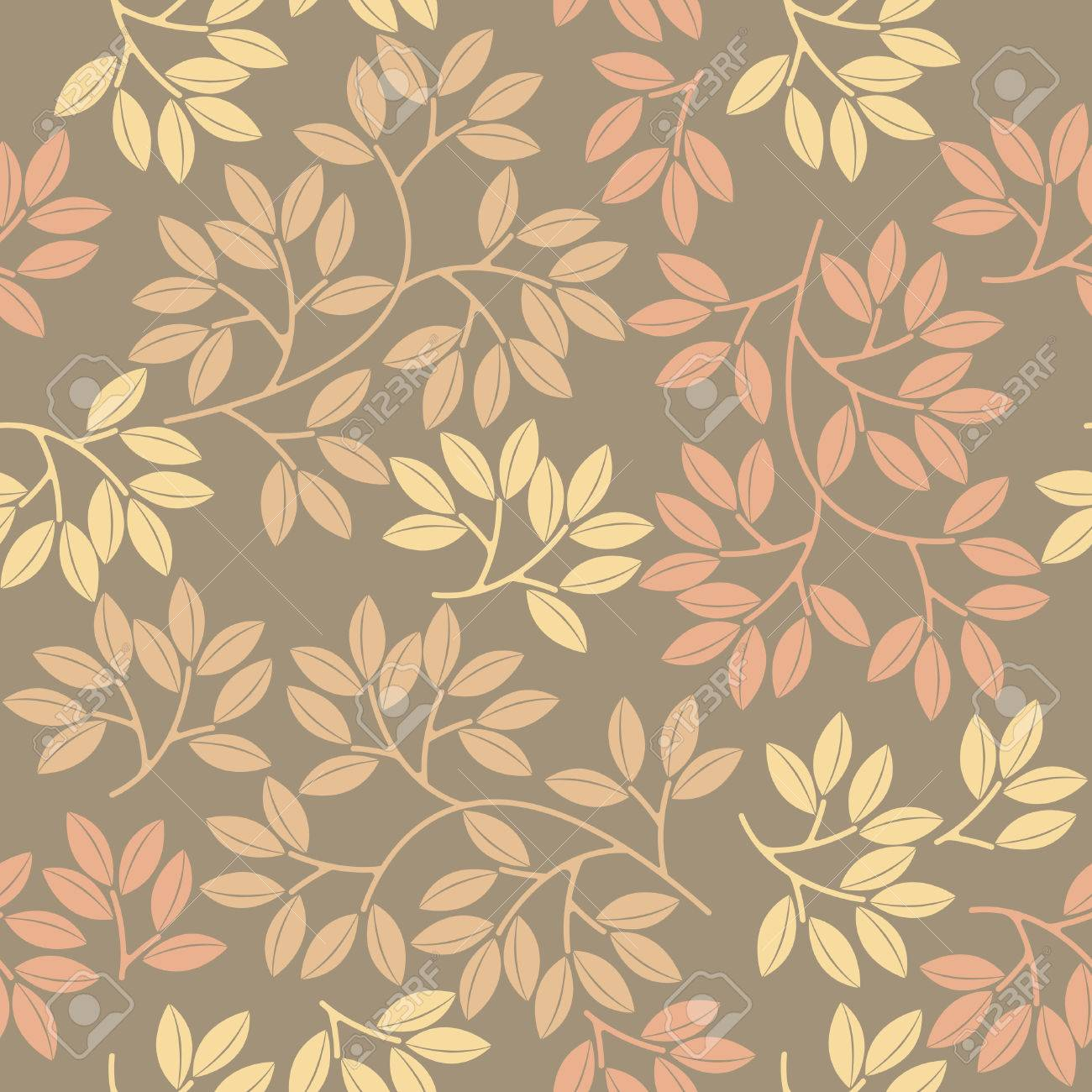 Spring Seamless Pattern With Stylish Leaves Can Be Used For Wallpaper