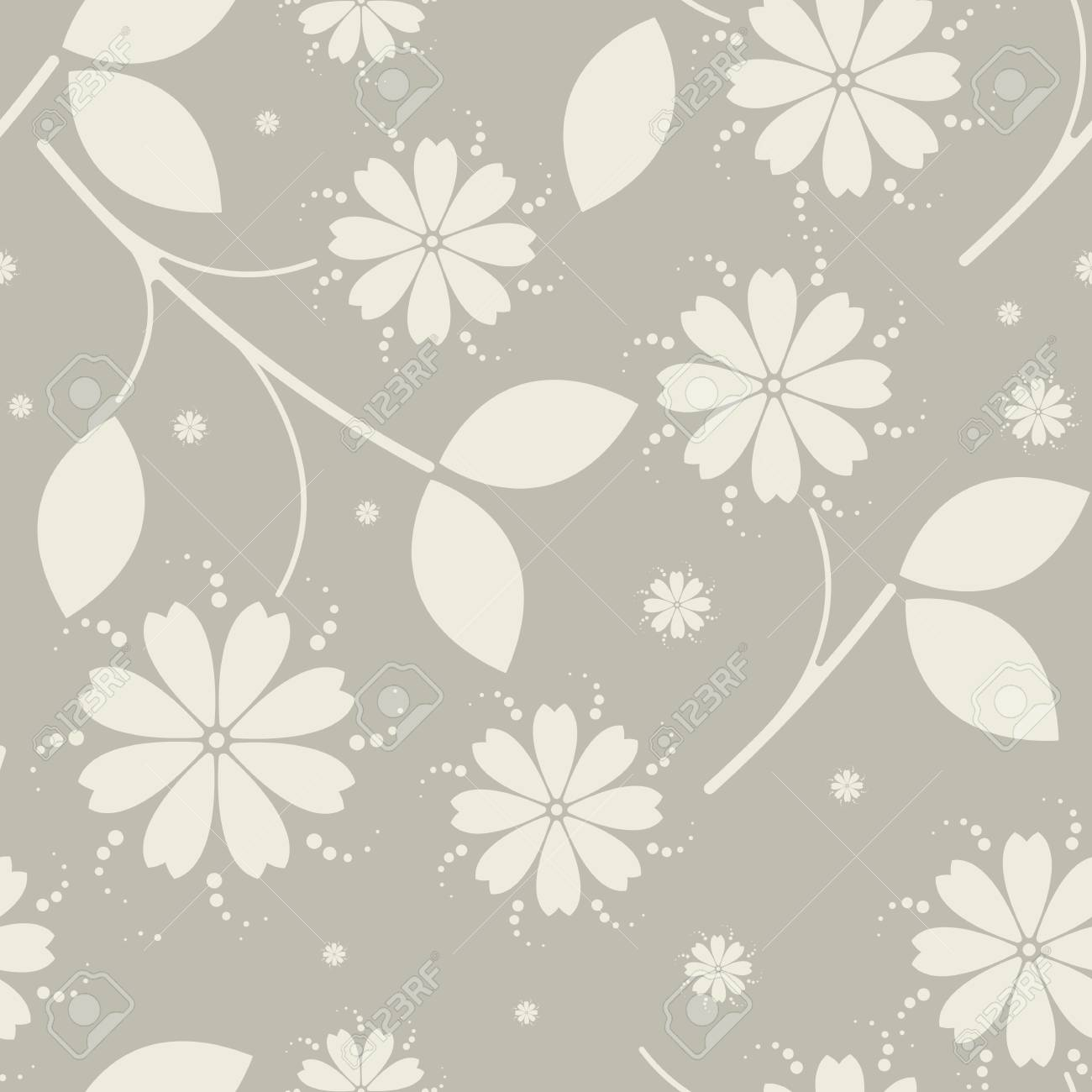Beauty Seamless Pattern With Flowers Can Be Used For Design Fabric