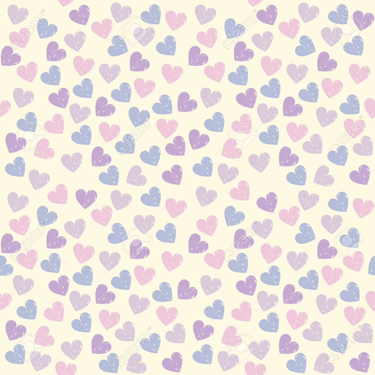 Cute Endless Pattern With Colorful Hearts Can Be Used For Wallpaper Design Fabric Linen