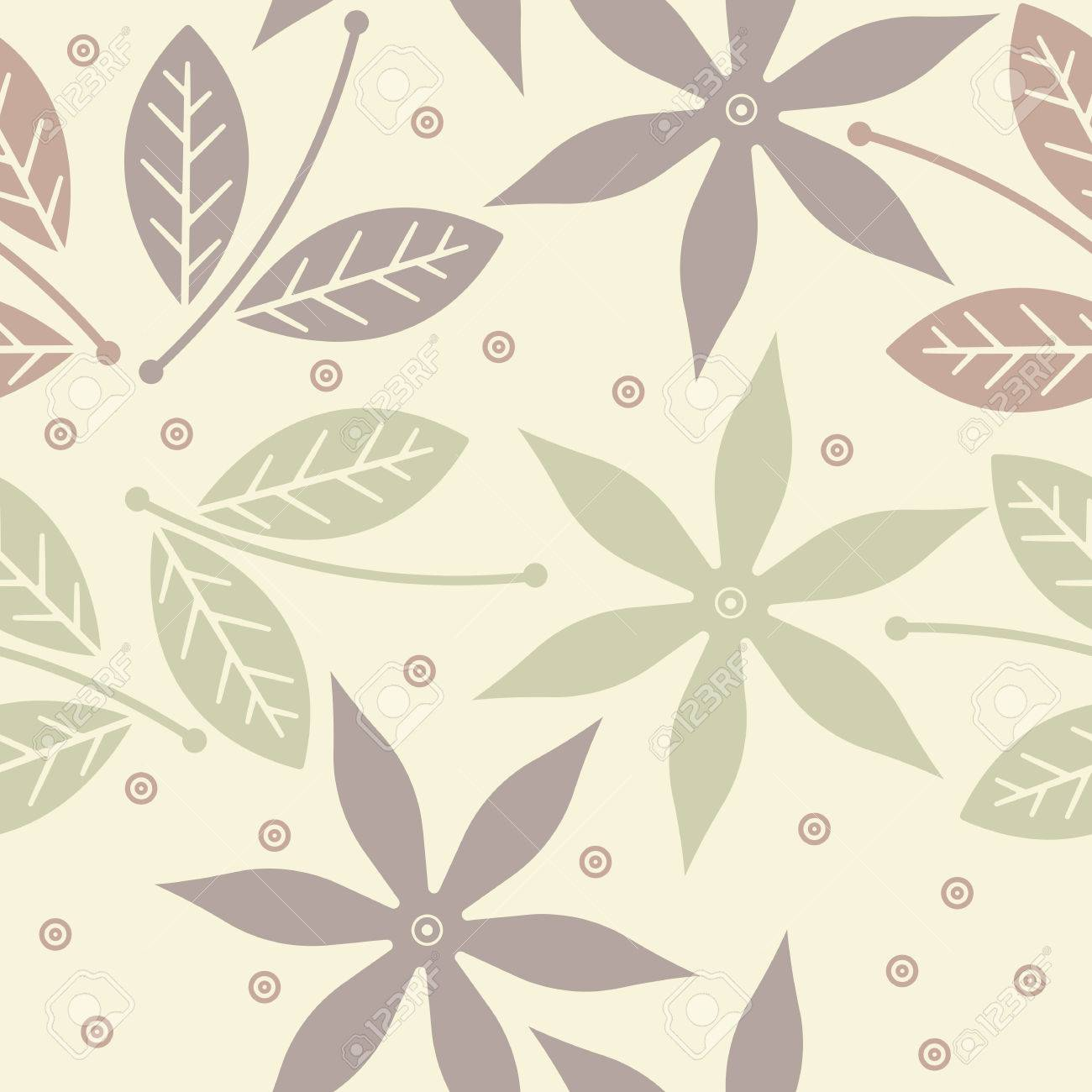 Cute Endless Pattern With Summer Flowers Can Be Used For Design