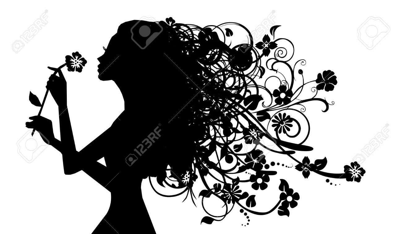 影絵少女花 Ih で彼女の髪 ロイ...