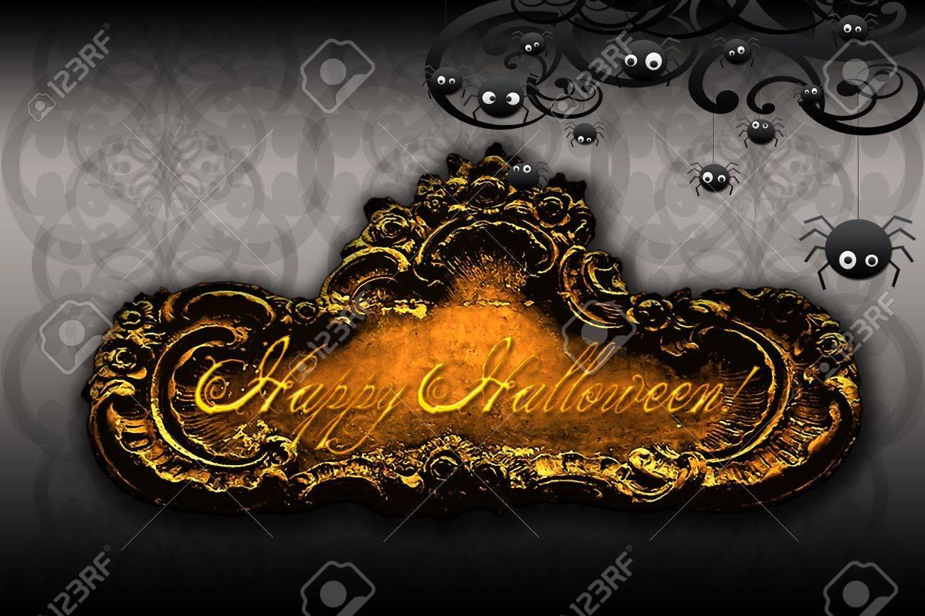happy halloween stylish cool happy halloween card or ecard stock photo - Cool Happy Halloween Pictures