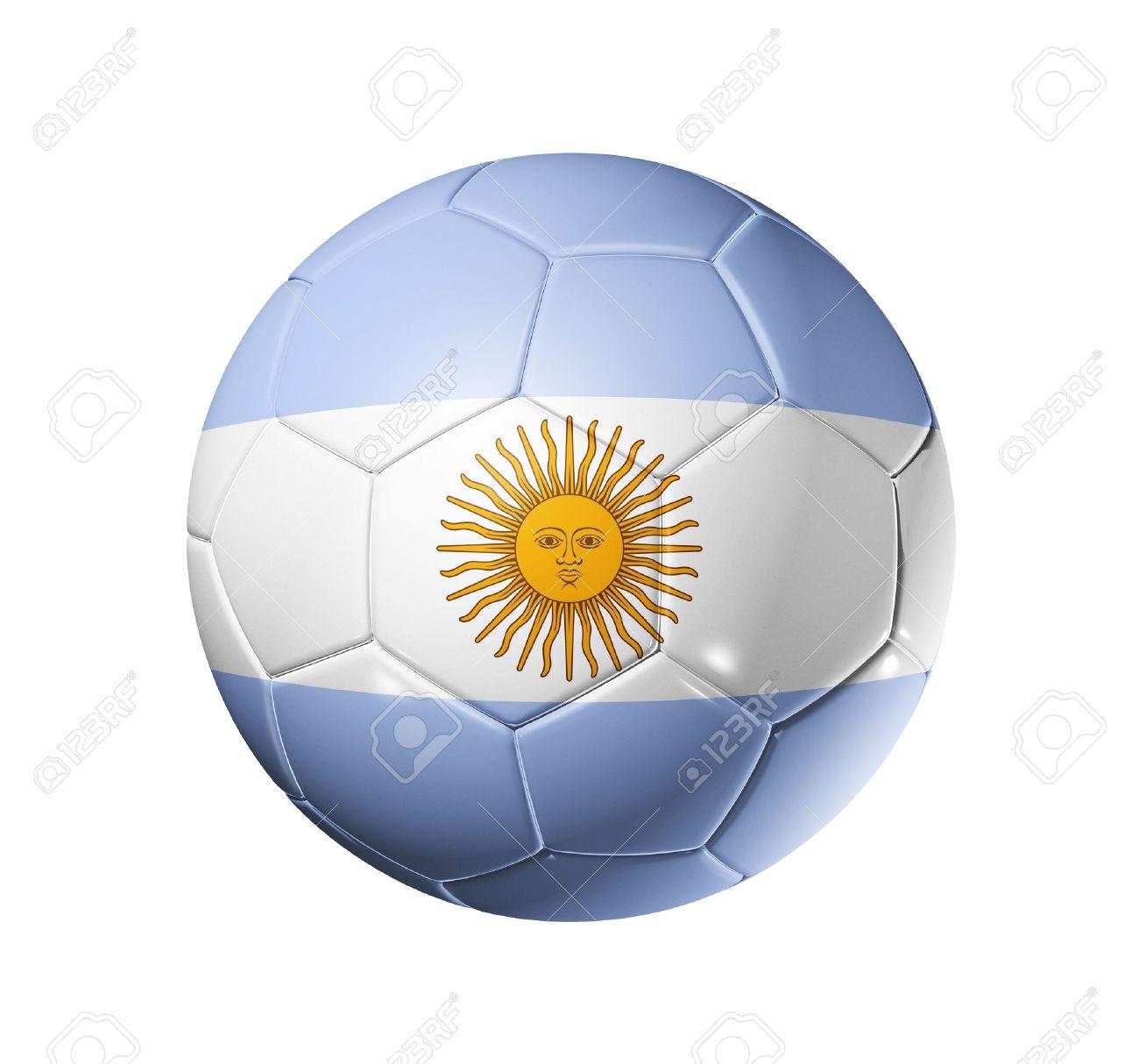 3d Fußball Ball Mit Argentinien Team Flag Fußball Wm 2010