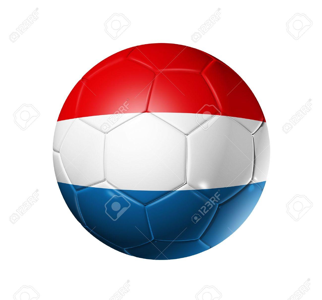 3d Fußball Ball Mit Niederlande Team Flag Fußball Wm 2010