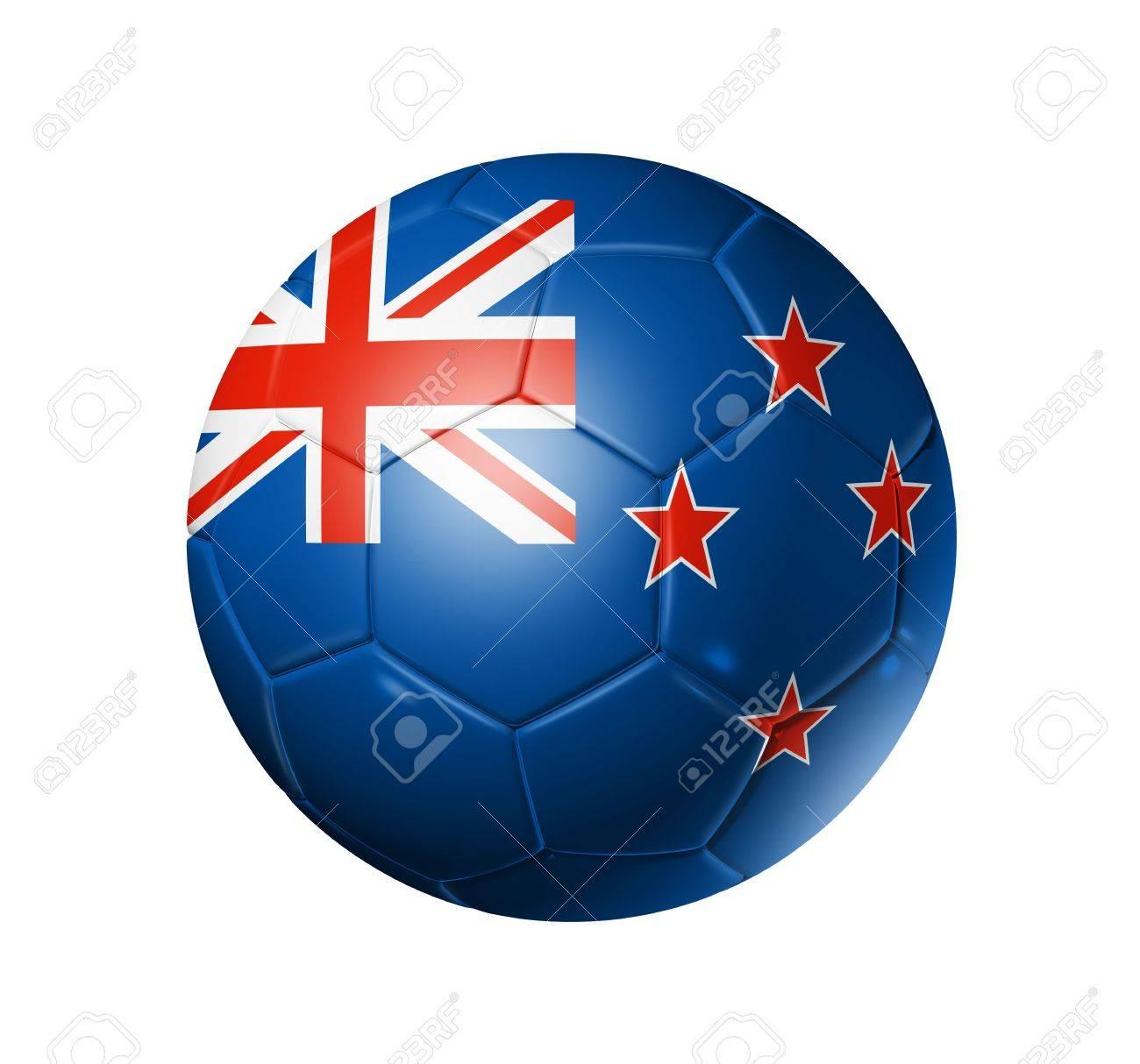 3d Fußball Ball Mit Neuseeland Team Flag Fußball Wm 2010