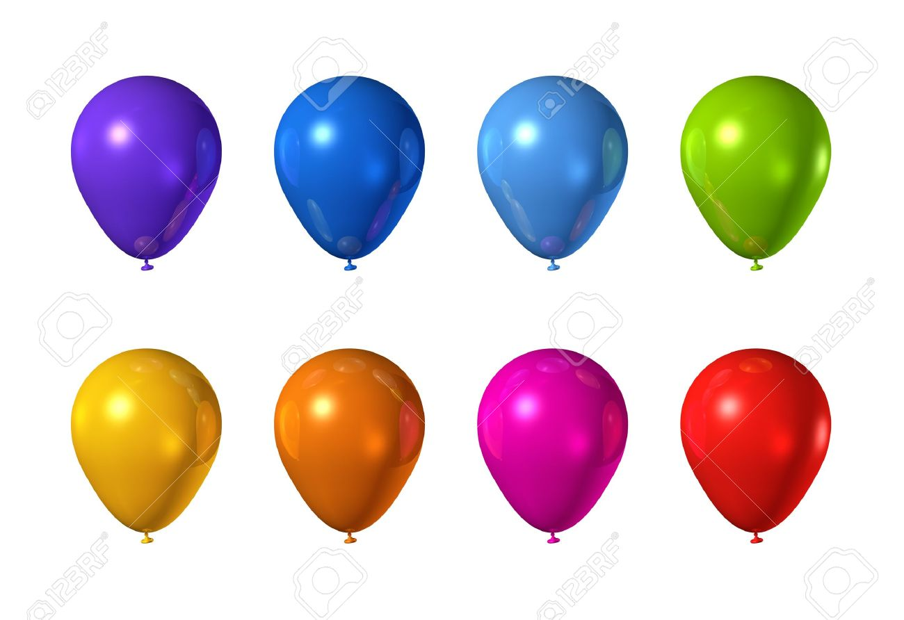 colored balloons isolated on a white background stock photo picture