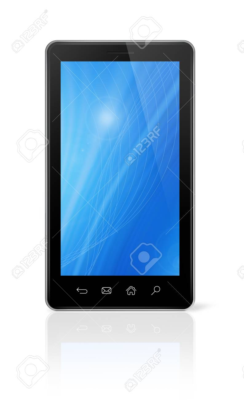 3D mobile phone, pda isolated on white with clipping path Stock Photo - 11213128