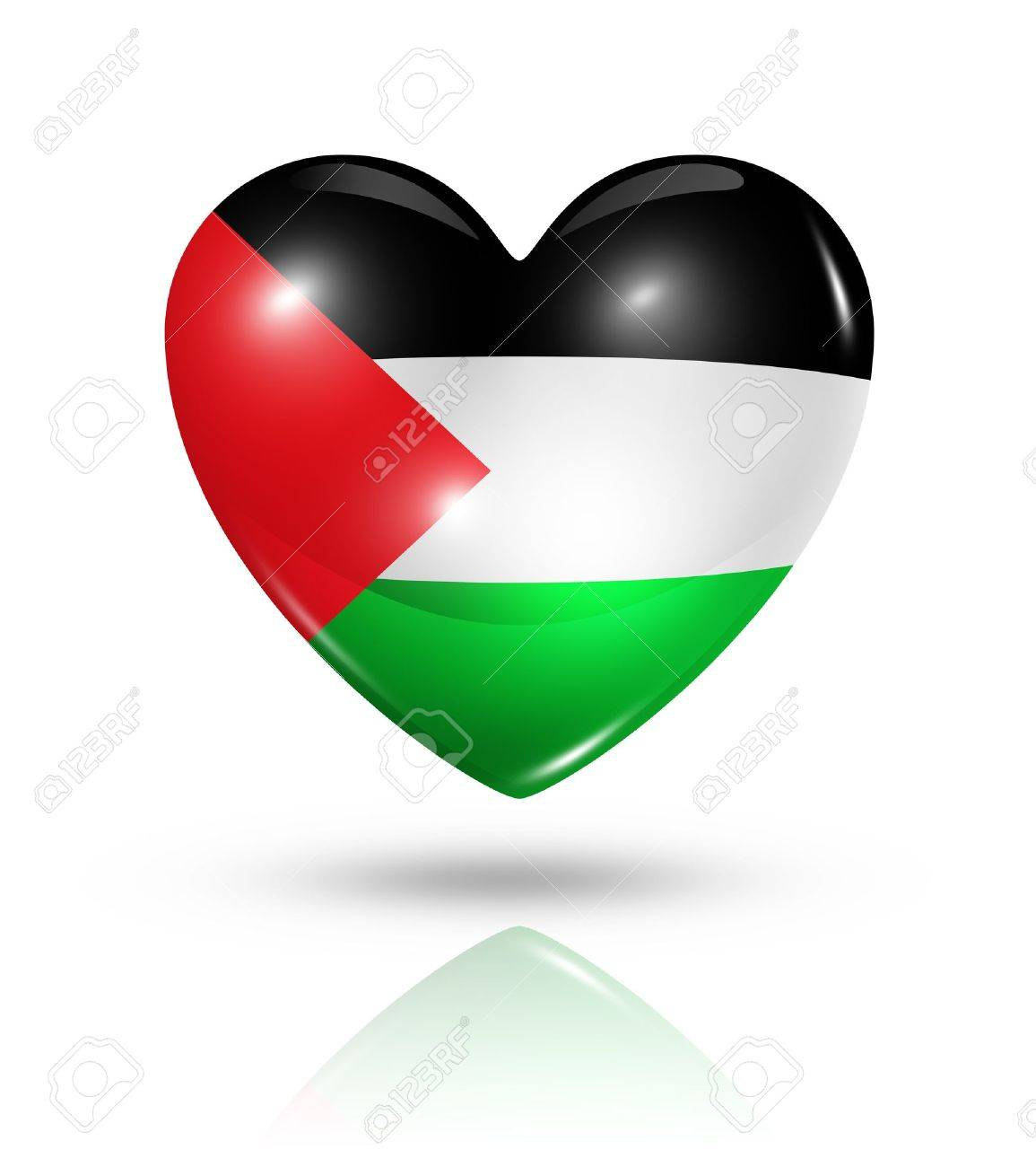 Love Palestine symbol  3D heart flag Stock Photo - 22160342
