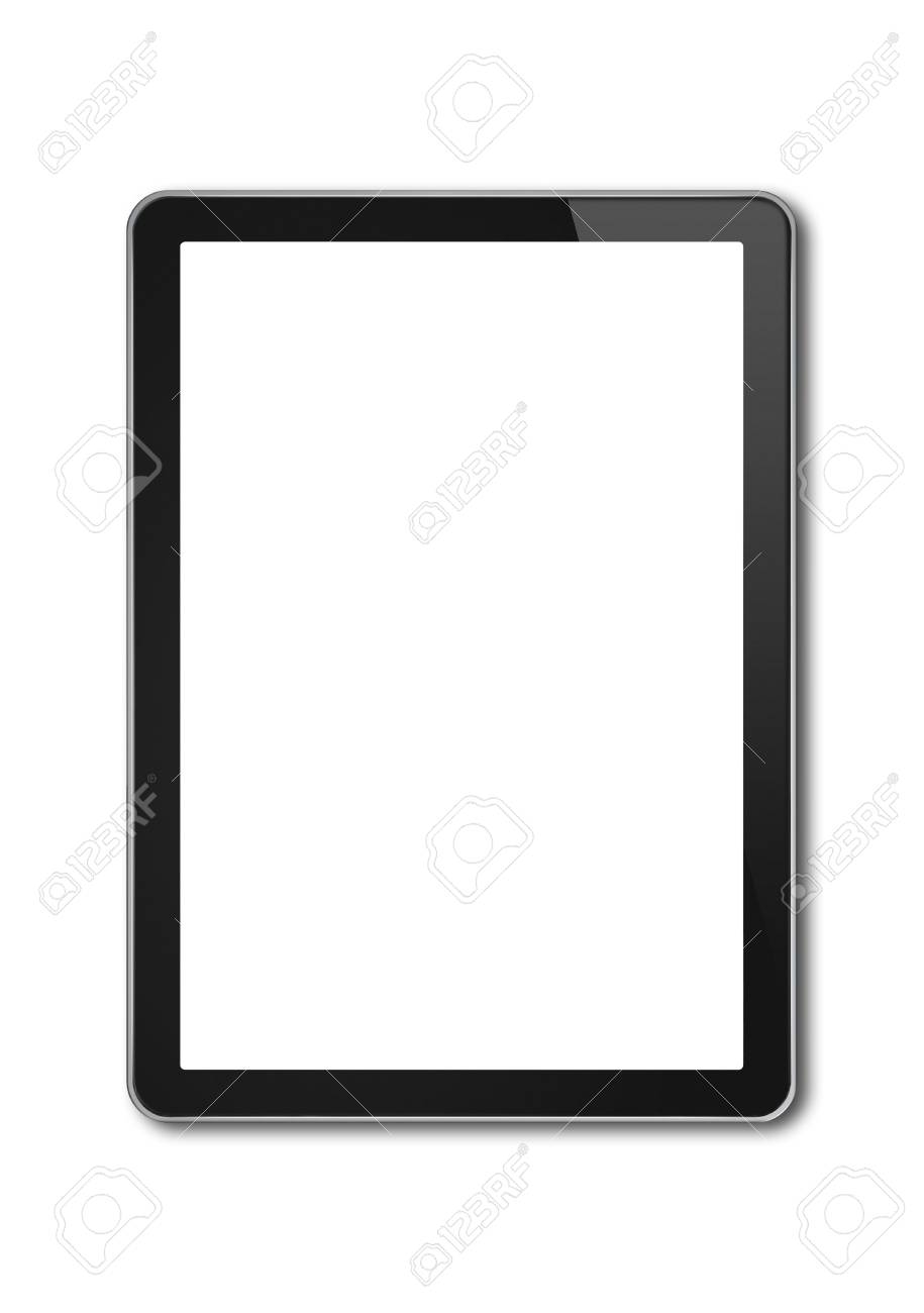vertical digital tablet pc smartphone mockup template isolated