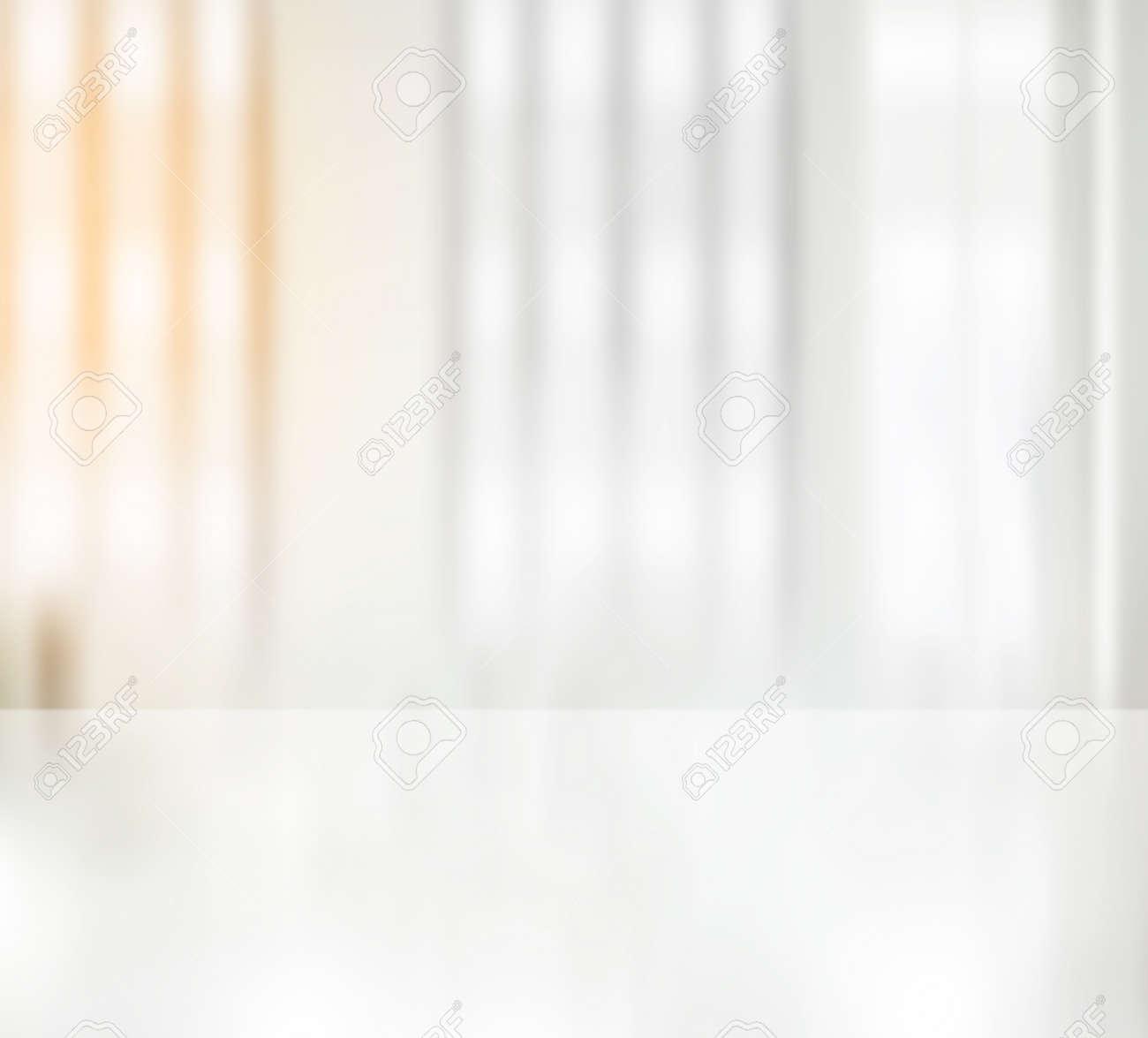 Clean white office desk blurry. Background wallpaper - 165711025