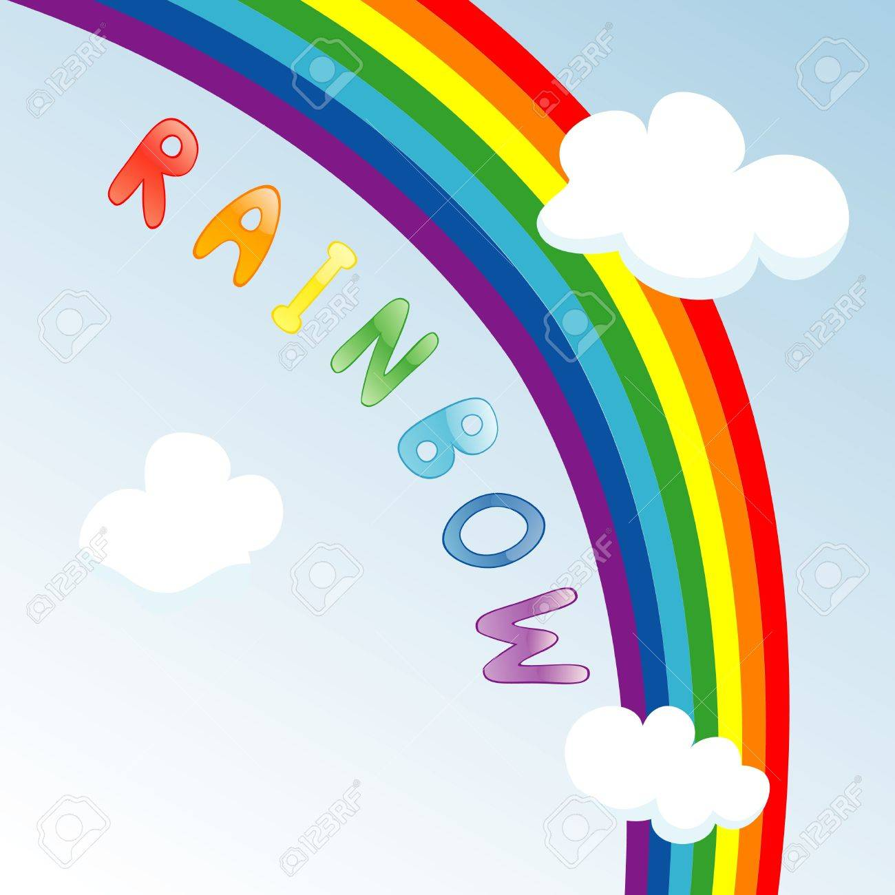 Vector illustration of rainbow in the sky Stock Vector - 9941826