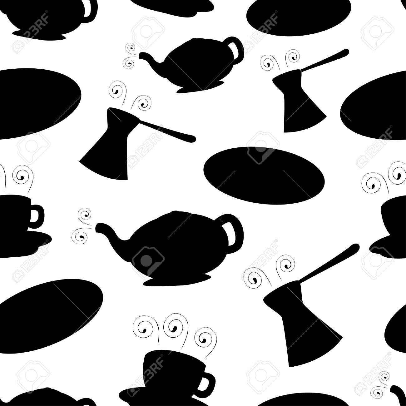 Black coffee seamless pattern Stock Vector - 14312758