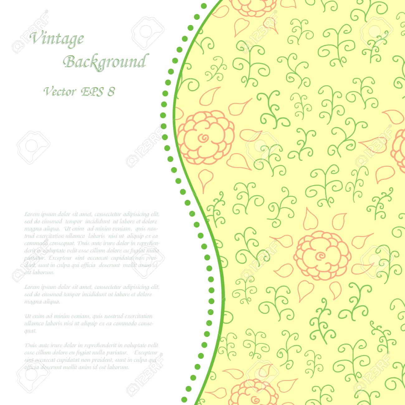 Vintage background with flowers Stock Vector - 14891531