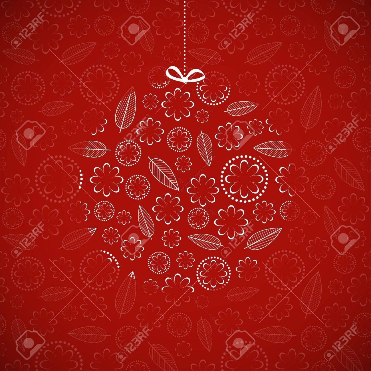 Card with ornamental Christmas ball  Vector illustration Stock Vector - 15627684