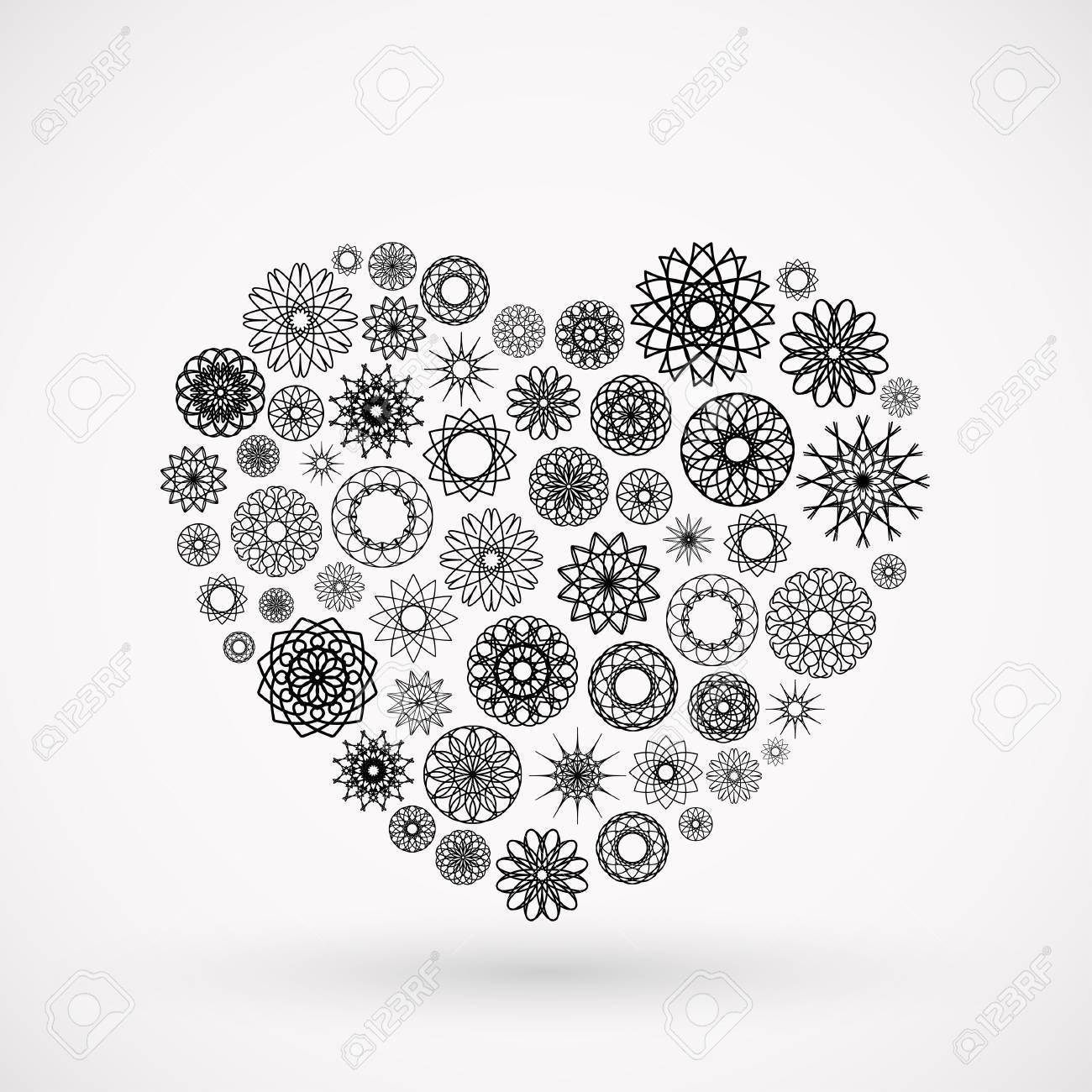 Vector ornamental heart. Valentine's day symbol Stock Vector - 25296473