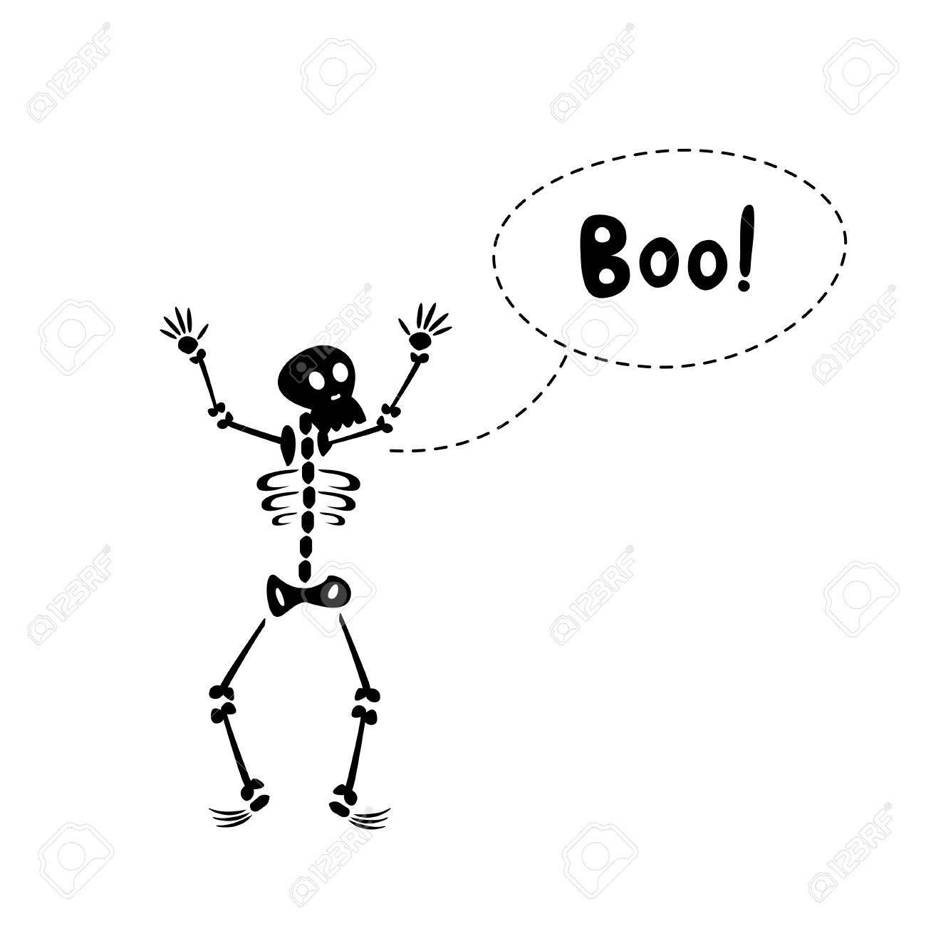 Vettoriale carta di halloween con il divertente cartone animato