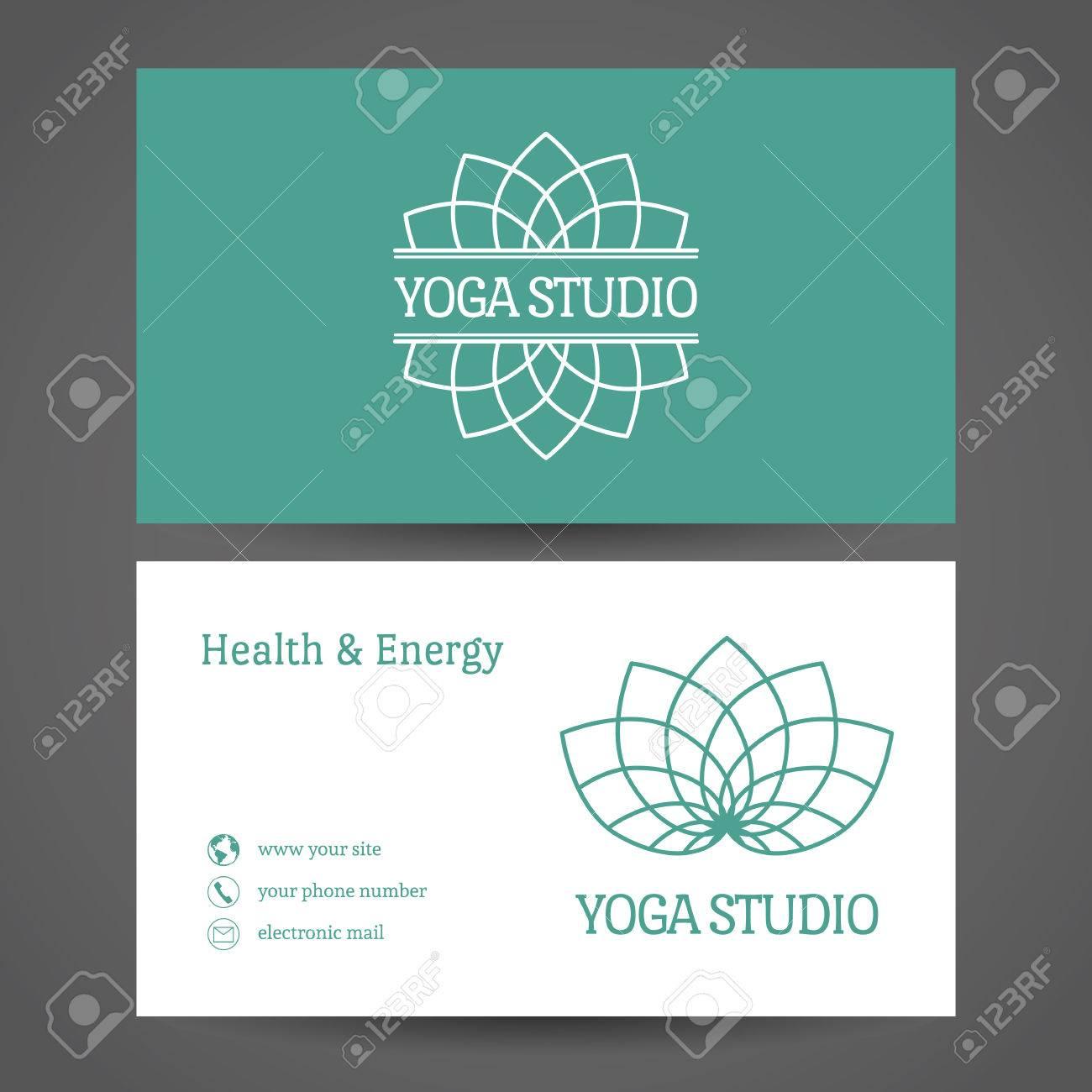 Yoga Ornamental Business Card. Vector Editable Template Include ...