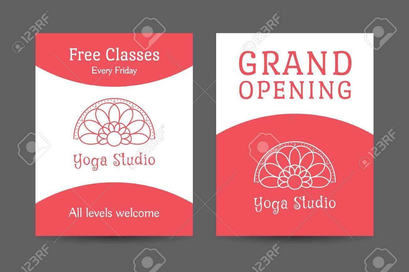 Yoga Ornamental Brochure Flyer Design Vector Editable Template