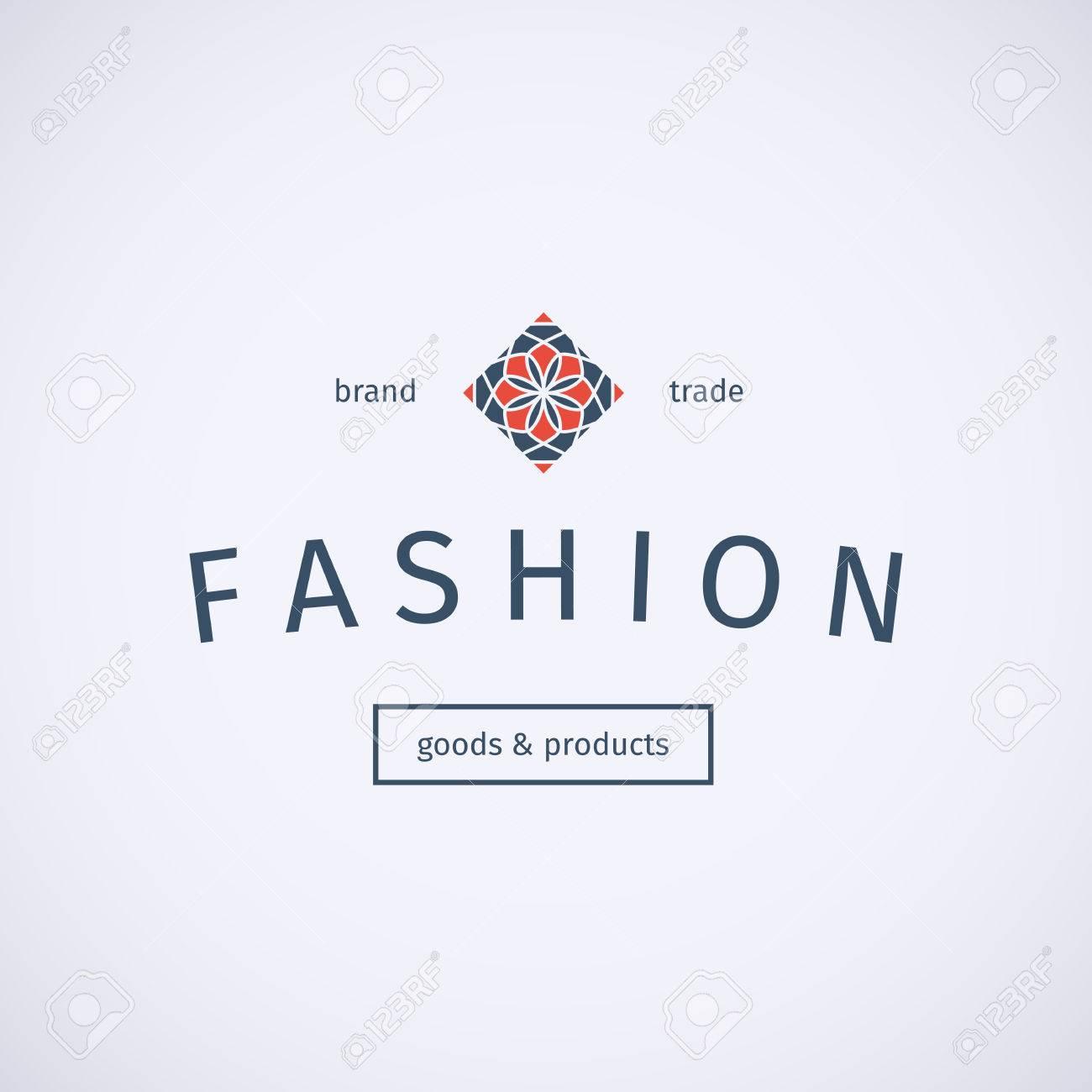 Asian Fashion-Shops Logo-Vorlage. Vektor Ethnischen Ornamental ...