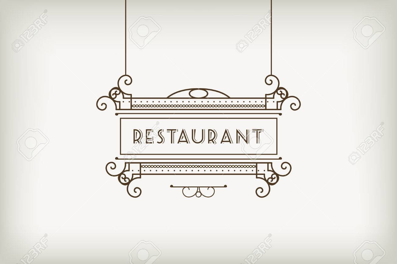 Vintage Signboard For Outdoor Advertising Of Cafe Or Restaurant Royalty Free Cliparts Vectors And Stock Illustration Image 47108233