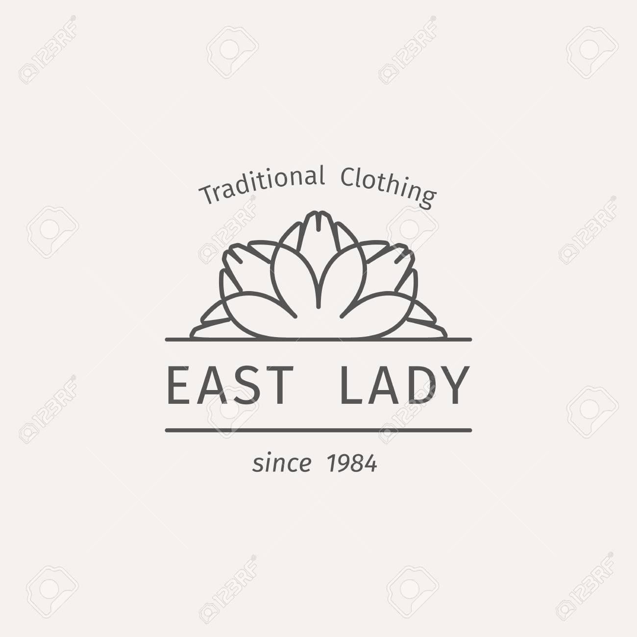 Asiatische Modegeschäfte Vorlage. Ethnischen Zier-Design Für ...