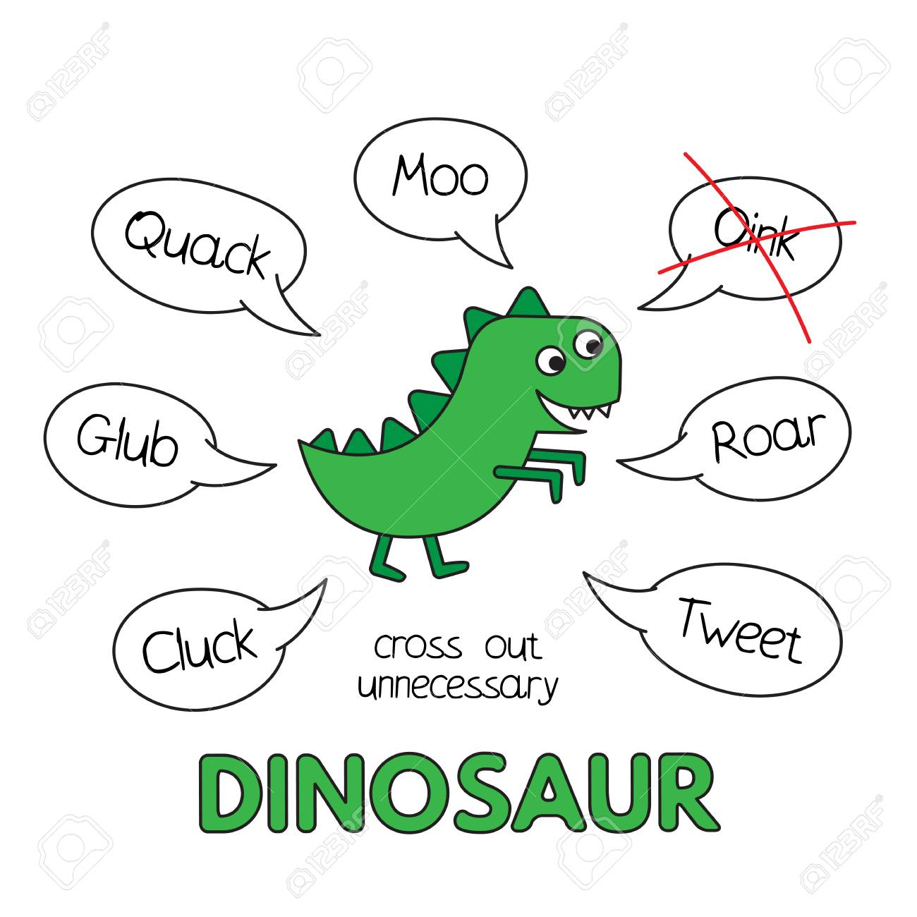 Cartoon Dinosaur Kids Learning Game Stock Photo, Picture And Royalty ...