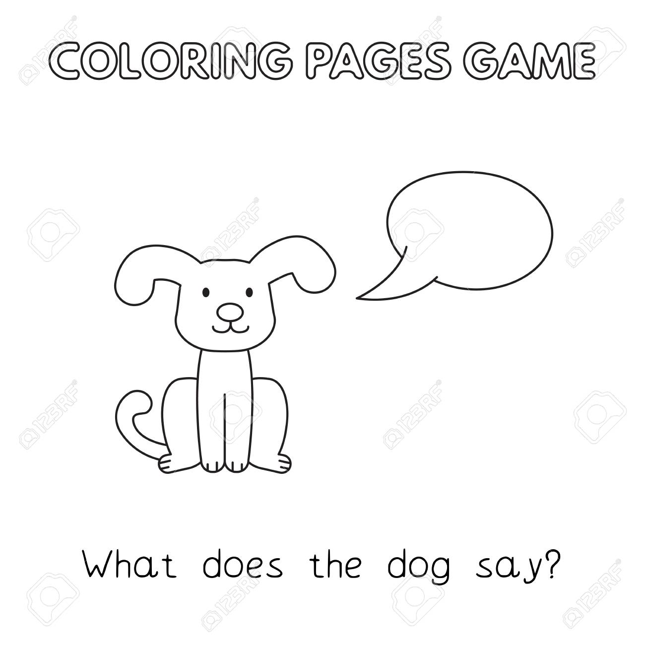 Cute Dog Coloring Book Pages | 1300x1300