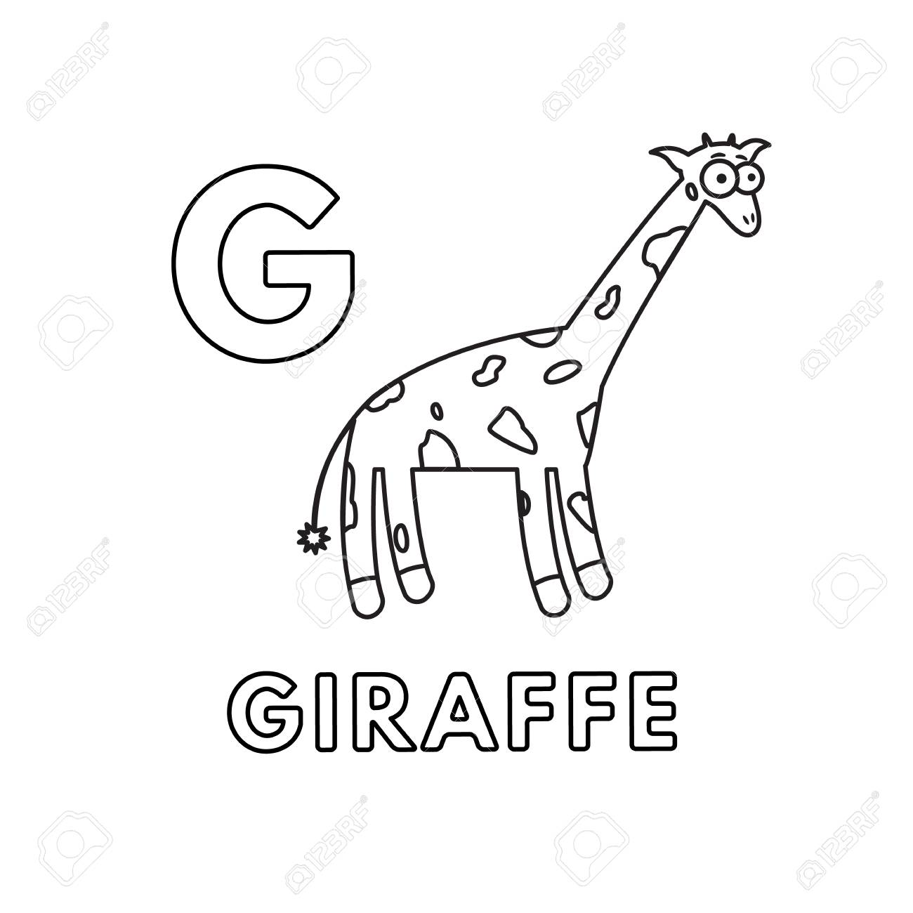 Alphabet With Cute Cartoon Animals Isolated On White Background Royalty Free Cliparts Vectors And Stock Illustration Image 122976235