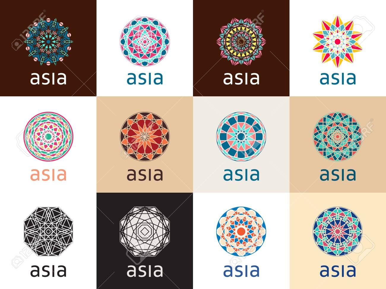 Oriental geometric symbols - 135703015