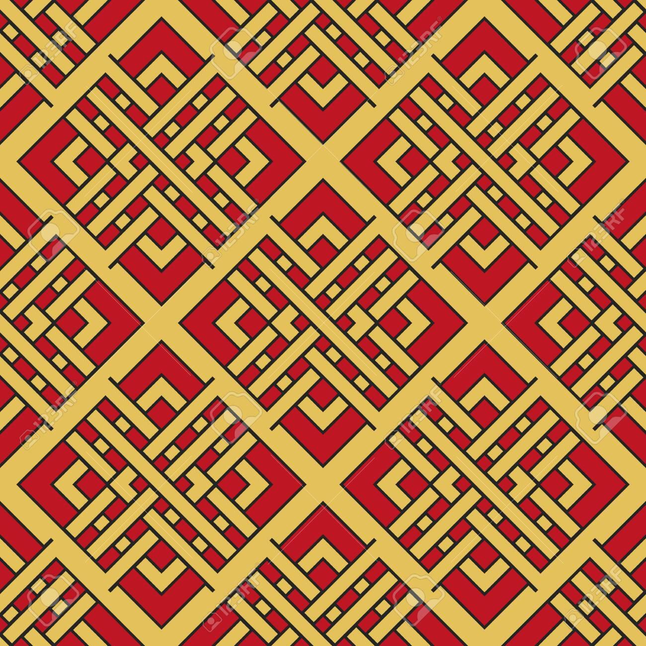 Vector Asian Geometric Pattern - 137324266