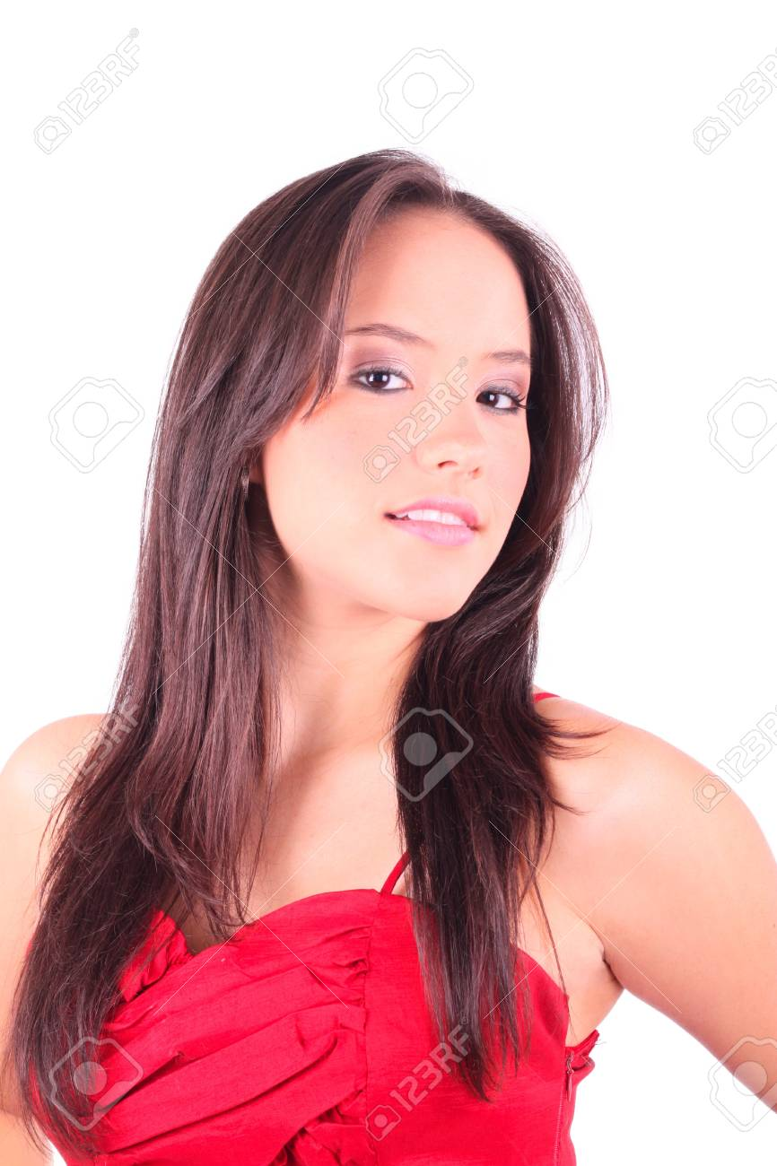 Young lady in red dress Stock Photo - 9497190